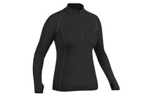 Salewa Chrom PST Women's L/S Zip Tee black uni